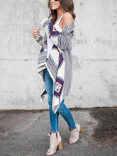 Load image into Gallery viewer, Long-Sleeved Irregular Printed Cardigan