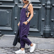 Load image into Gallery viewer, Cotton Slim Thin  Wide Leg Jumpsuit