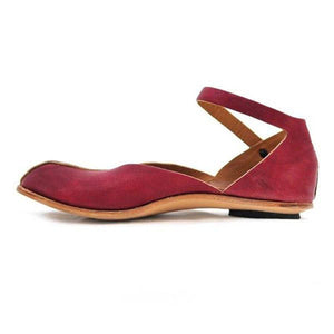 Fashion retro casual solid color flat sandals