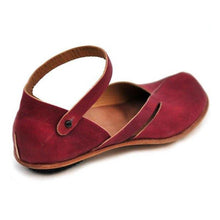 Load image into Gallery viewer, Fashion retro casual solid color flat sandals