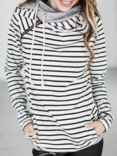 Load image into Gallery viewer, Casual Striped Long Sleeve Hoodie