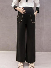 Load image into Gallery viewer, Maternity Comfy Solid Color Wide Leg Pants