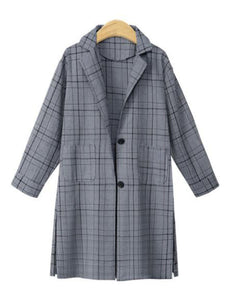 Autumn/Winter New Plaid Mid-Length Coat