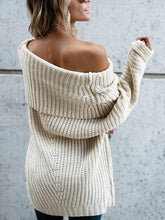 Load image into Gallery viewer, Pure Color Baggy Big   Lapel Long Sweater