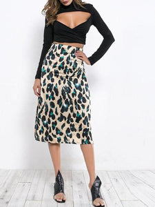 Fashion New Leopard Print Bag Hip Skirt