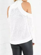 Load image into Gallery viewer, Fashion Off Shoulder Plain Loose Knit Sweater