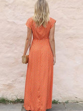 Load image into Gallery viewer, Casual Vacation V-Neck Polka-Dot Dress