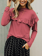 Load image into Gallery viewer, Fashion Plain Long Sleeve T-Shirt