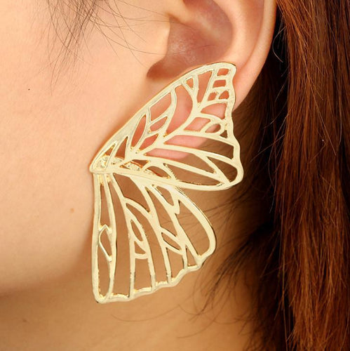 Butterfly Wings Wing Metal Cutout Earrings