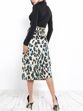 Load image into Gallery viewer, Fashion New Leopard Print Bag Hip Skirt