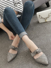 Load image into Gallery viewer, Fashion Bow Buckle Flats