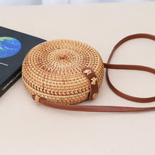 Load image into Gallery viewer, Female Handmade Exotic Style Rattan Collection Single Shoulder Bag