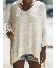 Load image into Gallery viewer, Fashionable shag line long sweater knit