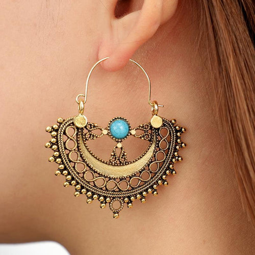 Fashion Geometric Retro Ethnic Style Bohemian Earrings