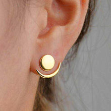 Load image into Gallery viewer, Fashion Simple Generous Metal Crescent Rear Insert Female Earrings Street Shooting Personality