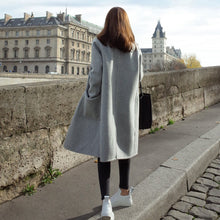 Load image into Gallery viewer, Fashion Plain Straight Cashmere Coat Outerwear