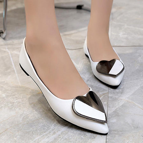 Plain  Flat  Point Toe  Date Office Comfort Flats