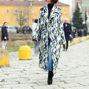 Fashion Printed Graffiti Horn Sleeve Coat