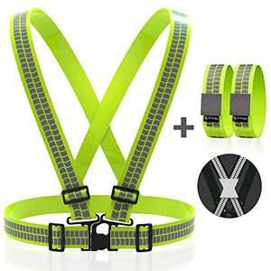 Back To Search Resultssports & Entertainment Strong Reflective Safe Belt Strap Bike Eco-friendly High Visibility Cycling Running Band For Ankle Arm Wrist Safety Bands Convenience Goods