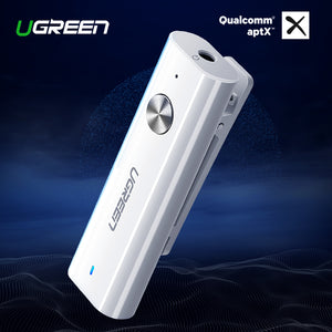 Ugreen Bluetooth 4.2 Receiver 3.5mm Aux Bluetooth Audio Receiver - QWERTY LLC