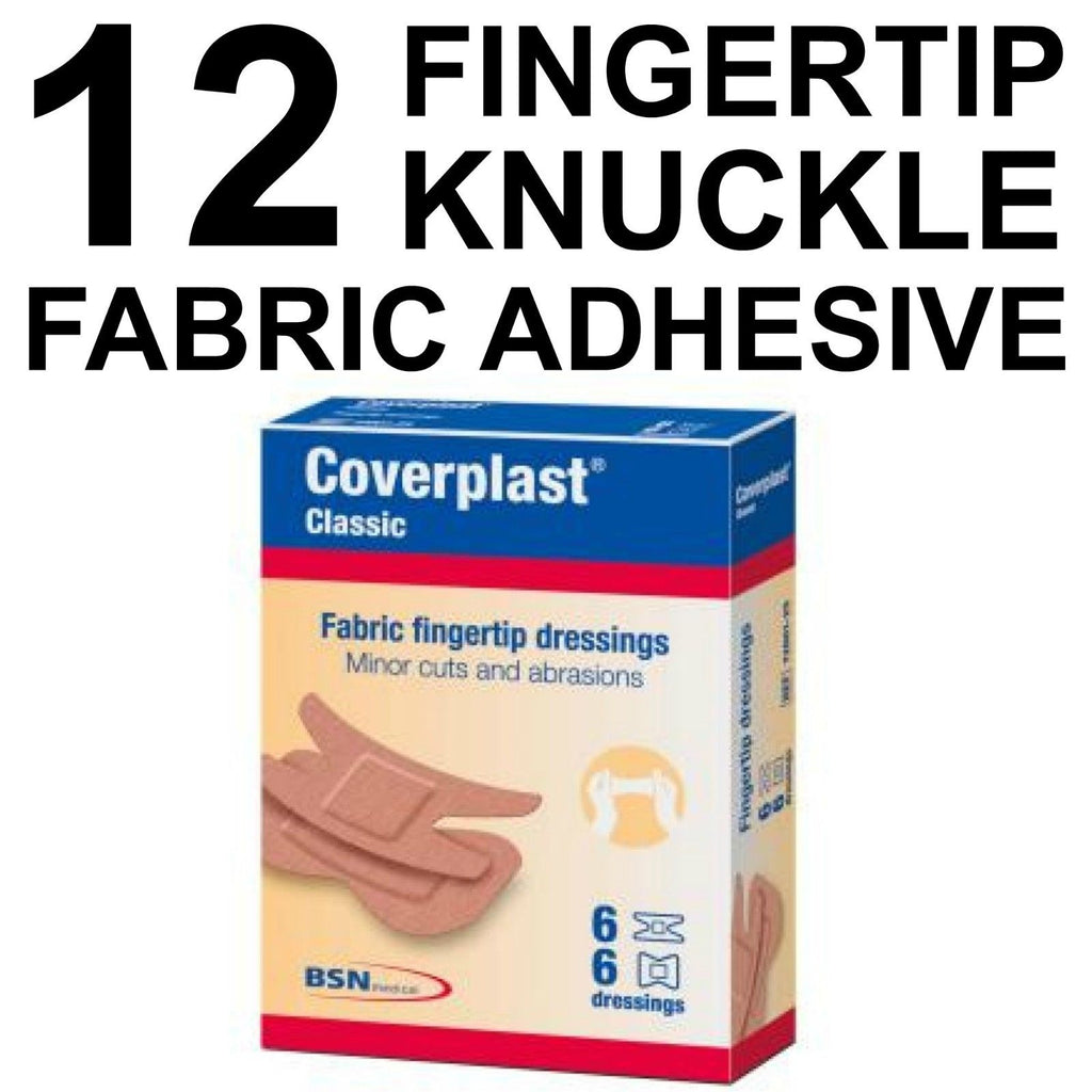 FABRIC FINGERTIP DRESSINGS MINOR CUTS AND ABRASIONS 12 DRESSINGS