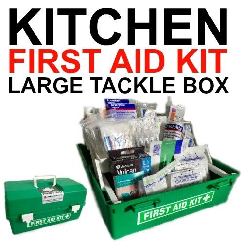 LARGE KITCHEN GREEN TACKLE FIRST AID KIT
