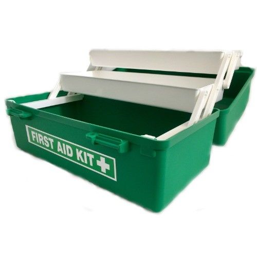 DOUBLE TRAY GREEN TACKLE FIRST AID BOX ONLY