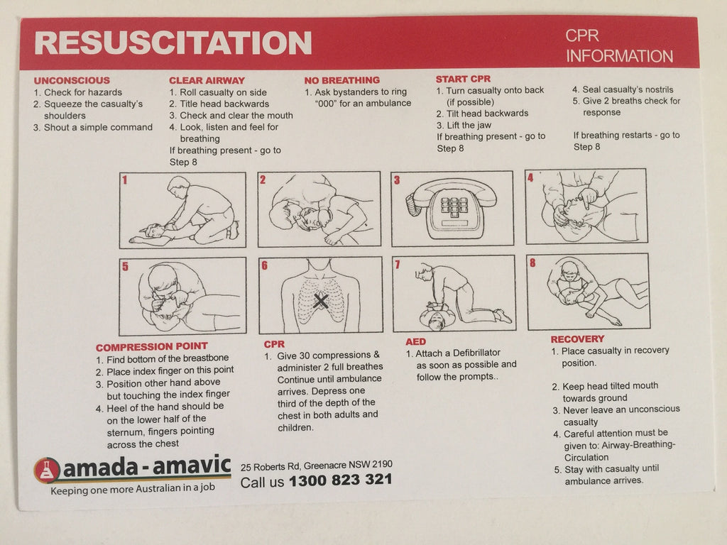 FIRST AID CPR CARD