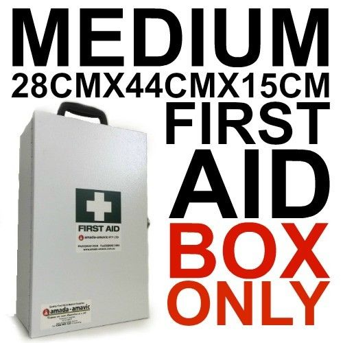 MEDIUM METAL FIRST AID BOX WALL MOUNT