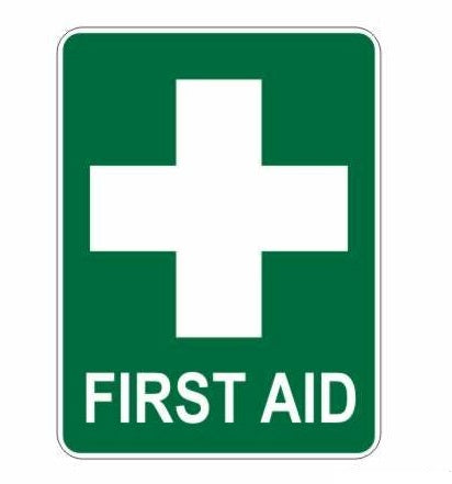 First Aid Poly Sign 225mm x 300mm