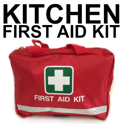 KITCHEN FIRST AID KIT RED BAG