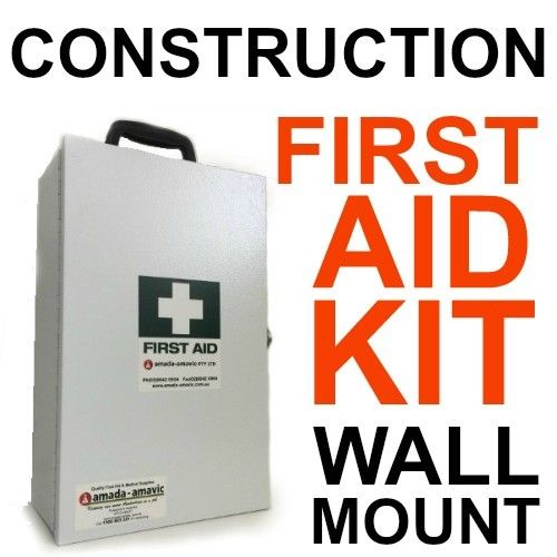 SMALL CONSTRUCTION METAL FIRST AID KIT