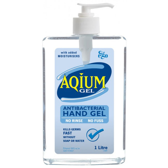 1 Litre Aqium Antibacterial Hand Sanitiser with Bracket