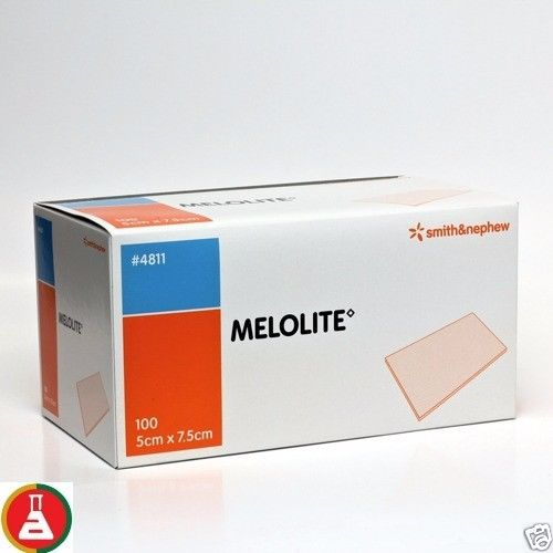 Melolite Dressings 7.5 x 5cm (Box 100)