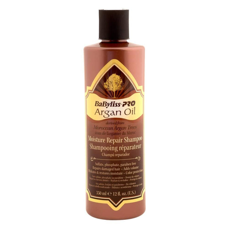 BabylissPro Argan Oil Moisture Repair Shampoo (12oz) - Empire Barber Supply