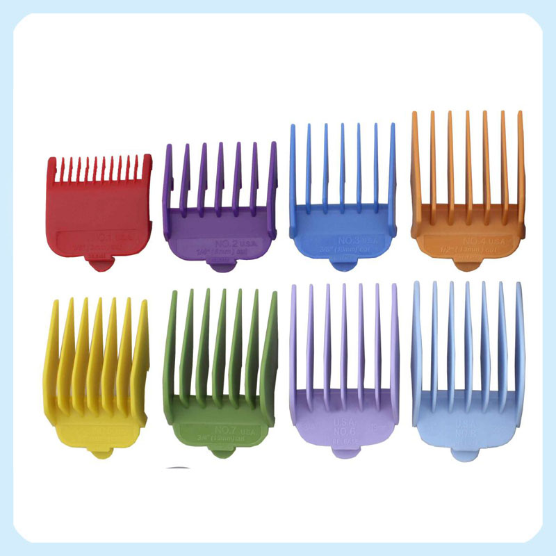 Ideal 8-Pack Coloured Wahl Cutting Guides