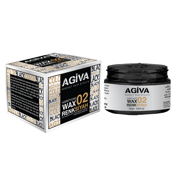 Agiva Color Wax Black 02 - Empire Barber Supply