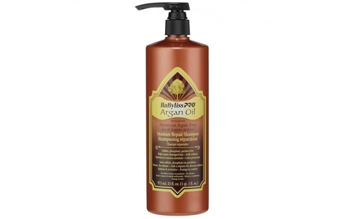 BabylissPro Argan Oil Moisture Repair Shampoo (33oz) - Empire Barber Supply