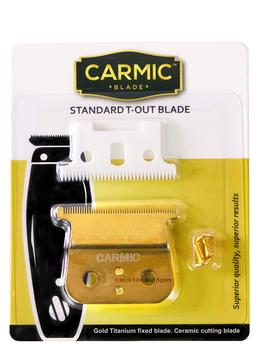 Carmic Gold Top Blade & Ceramic Cutting Blade for Andis T-Outliner - Empire Barber Supply