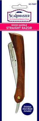 Scalpmaster Deluxe Wood Handle Straight Razor - Empire Barber Supply