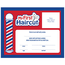 "Scalpmaster 12 pk. ""My First Haircut"" Certificates"