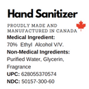 70% Alcohol Hand Sanitizer 8oz (240 ml) - Empire Barber Supply