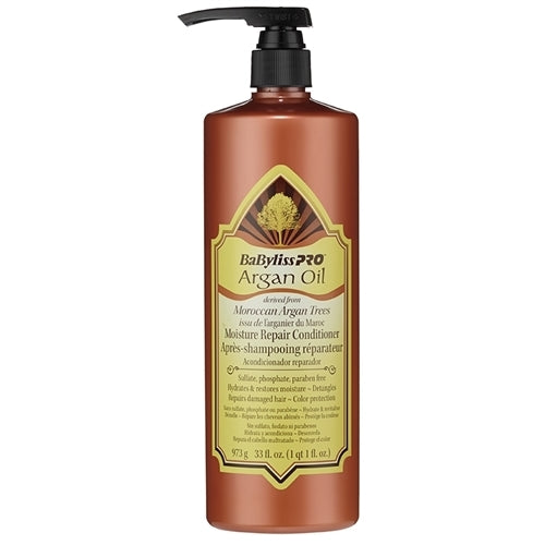 BabylissPro Argan Oil Moisture Repair Conditioner (33oz) - Empire Barber Supply