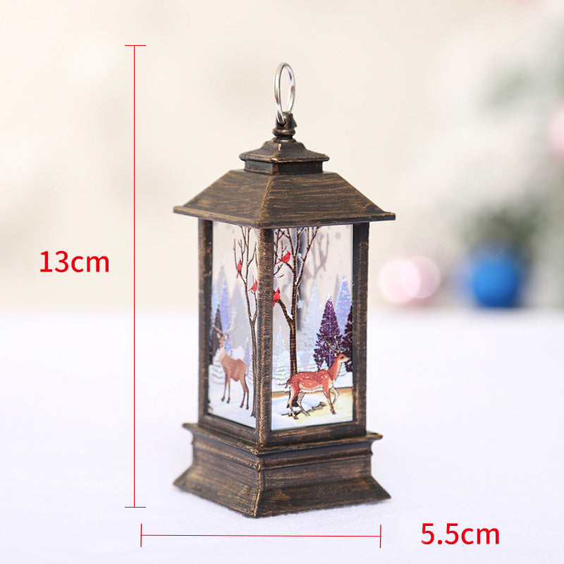 Christmas Simulation Flame Portable Small Oil Lamp