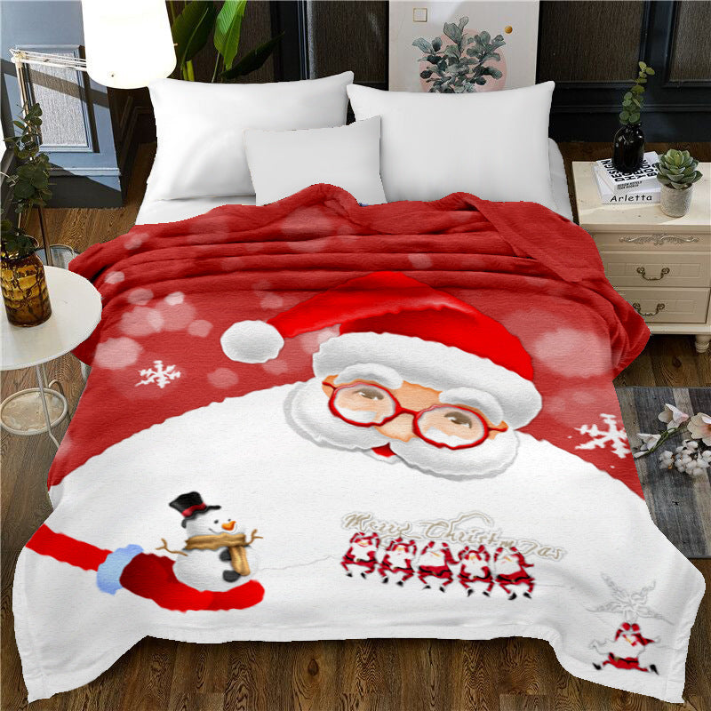 Christmas Falais 3D Printed Soft Single-sided Blanket