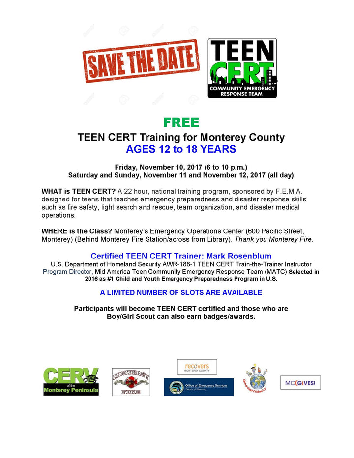 Teen CERT Training
