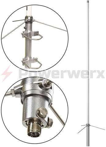 Base Station Wide Coverage VHF/UHF Dual Band Antenna for Commercial, Public Safety & Amateur Radio