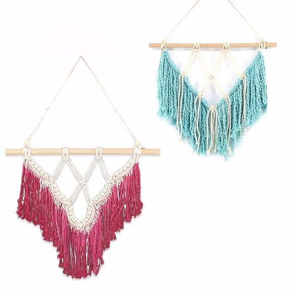 Handmade Bohemian Cotton Macrame Wall Art