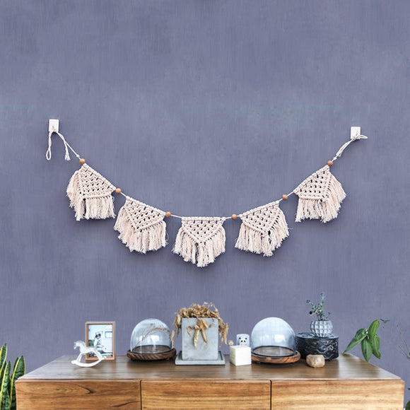 Handmade Boho Wall Tapestry Tassel Home Decor