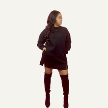 Load image into Gallery viewer, Sweatshirt Dress | Black
